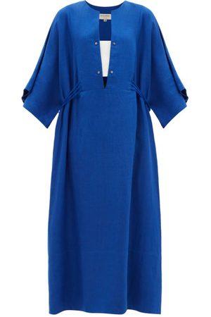 ZEUS+DIONE Thebes Linen Maxi Kaftan Dress - Womens