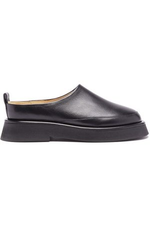 Wandler Rosa Leather Backless Loafers - Womens