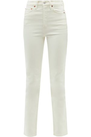 RE/DONE Women High Waisted - 80s High-rise Slim-leg Jeans - Womens - Ivory