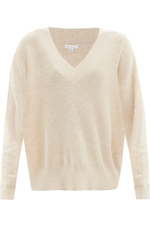 SKIN Wakely V-neck Organic Cotton Blend Sweater - Womens - Light