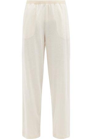 SKIN Fabienne Ribbed Cotton Pyjama Trousers - Womens - Light
