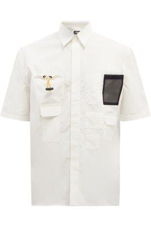 Fendi Men Shirts - Patch-pocket Cotton-poplin Shirt - Mens