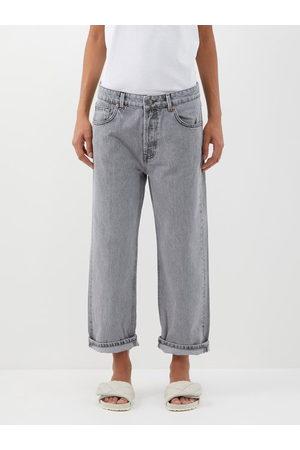 Raey Women Boyfriend Jeans - Dad Organic-cotton Baggy Boyfriend Jean - Womens - Light Grey