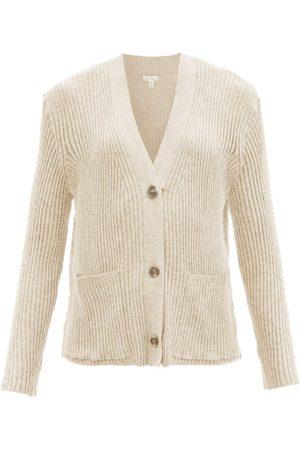 SKIN Women Sweats - Wayde Ribbed Organic-cotton Blend Cardigan - Womens - Light