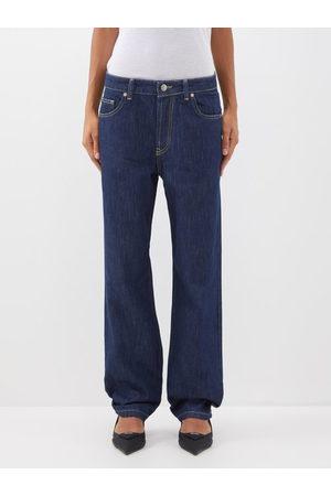 Raey Opa Organic-cotton Baggy Boyfriend Jeans - Womens - Indigo