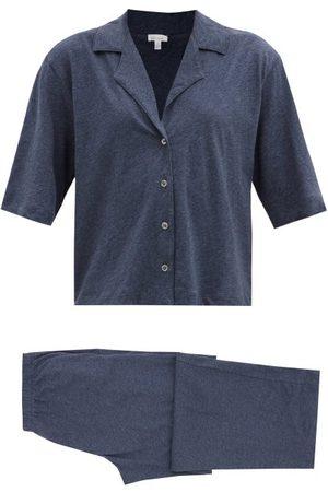 SKIN Chandler Organic Pima Cotton-jersey Pyjamas - Womens - Navy