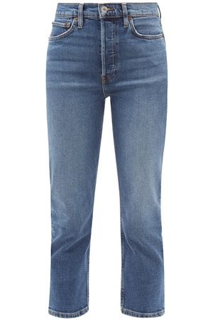 RE/DONE 90s Extra Crop High-rise Jeans - Womens - Mid Denim