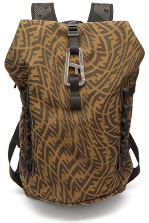 Fendi Ferrino Logo-jacquard Canvas Backpack - Mens - Multi