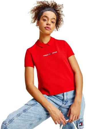 Tommy Hilfiger Regular Linear Short Sleeve Polo Shirt S Deep Crimson