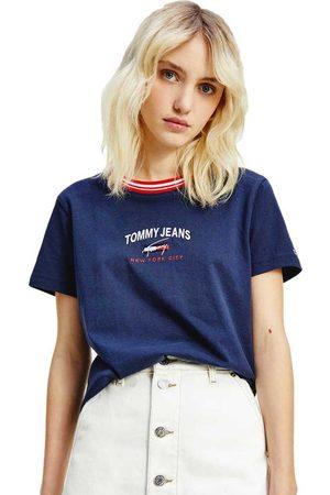 Tommy Jeans Regular Timeless Script Short Sleeve T-shirt XS Twilight Navy