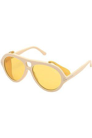 Tom Ford Neughman Sunglasses in Ivory