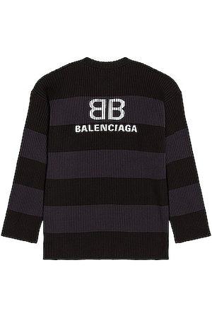 Balenciaga Men Long sleeves - Long Sleeve Crewneck in