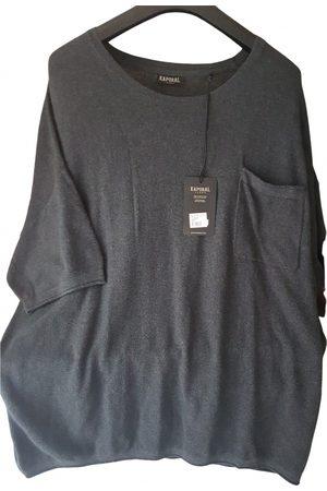 Kaporal 5 Men Sweatshirts - Anthracite Cotton Knitwear & Sweatshirt