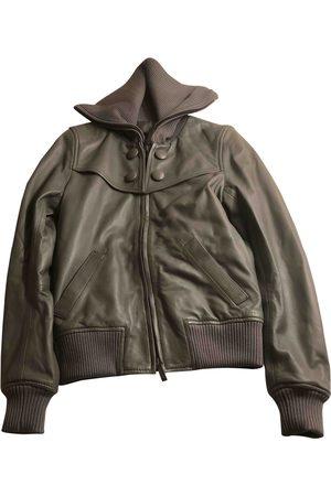 Calvin Klein Grey Leather Jackets