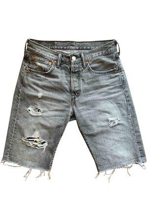 Levi's Men Shorts - Grey Cotton Shorts