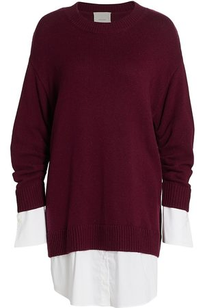 Cinq à Sept Women's Santina Sweaterdress - Merlot - Size Large