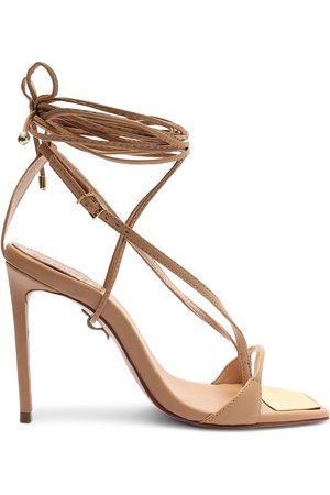 Schutz Women's Vikki Lace-Up High-Heel Sandals - Honey - Size 7