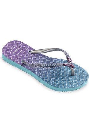 Havaianas Little Girl's & Girl's Mermaid Glitter Flip Flops - Glitter - Size 10 (Toddler)