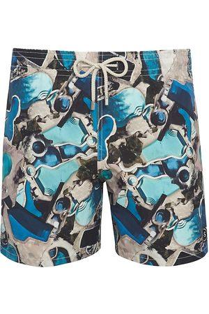 Vilebrequin Men's Pool Print Swim Trunks - Note - Size Large