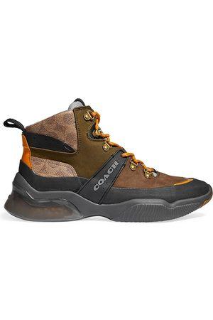 Coach Men Outdoor Shoes - Men's CitySole Suede & Leather Hiker Boots - Khaki Olive - Size 10