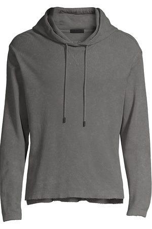 ATM Anthony Thomas Melillo Men Hoodies - Men's Pique Hoodie Sweatshirt - Slate - Size XXL