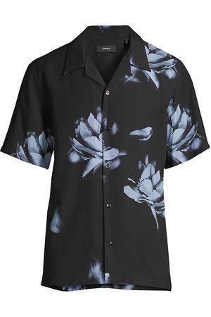 Theory Men Short sleeves - Men's Floral Short-Sleeve Shirt - Multi - Size Medium