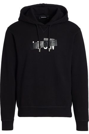 Dsquared2 Men Hoodies - Men's Icon Taped Hoodie - - Size Small