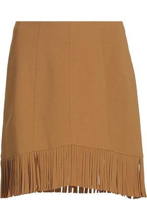 Cinq A Sept Women Skirts & Dresses - Women's Gina Fringe Skirt - Cinnamon - Size 2