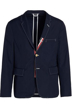 Thom Browne Men Blazers - Men's Unconstructed Classic Sportcoat - Navy - Size Small