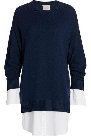 Cinq A Sept Women Sports Equipment - Women's Santina Sweaterdress - Navy - Size XL