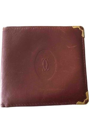 Cartier Men Wallets - Burgundy Leather Small Bags, Wallets & Cases