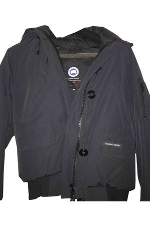 Canada Goose Navy Cotton Leather Jackets