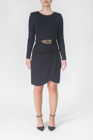 Clips Long Sleeve Dress