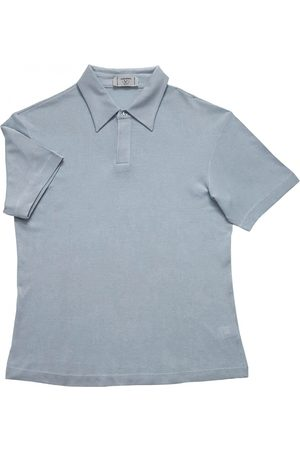 VALENTINO GARAVANI Men Polo Shirts - Turquoise Silk Polo Shirts