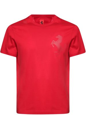 FERRARI STORE Men T-shirts - Logo Print Cotton T-shirt