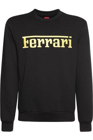 FERRARI STORE Logo Print Recycled Jersey Sweatshirt