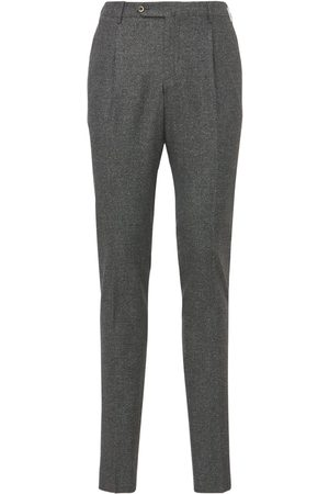 Pantaloni Torino Men Skinny Pants - Super Slim Stretch Wool & Silk Pants