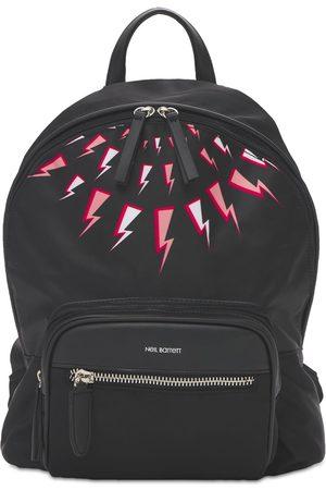 Neil Barrett Thunder Print Nylon Backpack