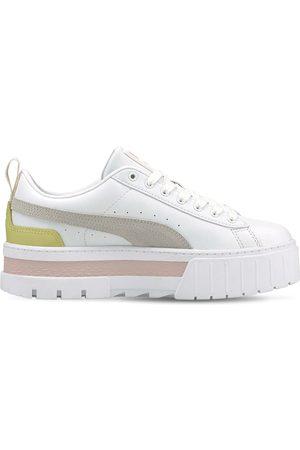 PUMA Mayze Platform Leather Sneakers