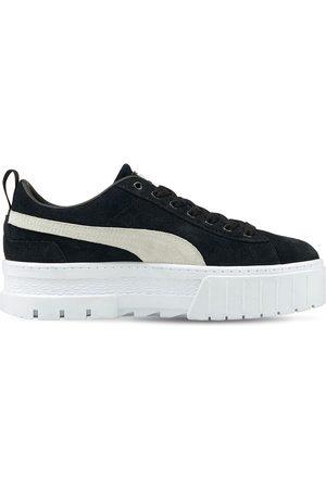 PUMA Women Platform Sneakers - Mayze Platform Suede Sneakers