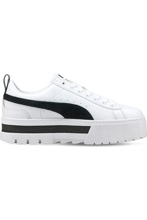 PUMA Women Platform Sneakers - Mayze Platform Leather Sneakers