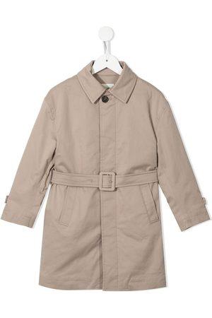 Fendi Belted-waist long-sleeve coat