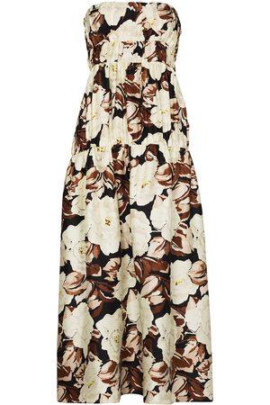 SIR Women Printed Dresses - Vivienne floral print strapless dress - Neutrals