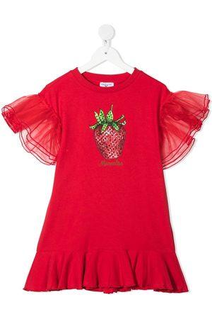 Monnalisa Girls Printed Dresses - Graphic print dress