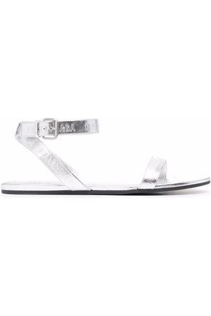 Balenciaga Metallic flat sandals
