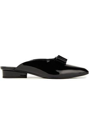 Salvatore Ferragamo Woman Viva Bow-embellished Patent-leather Mules Size 5