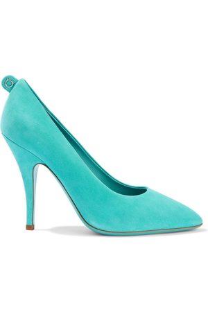 Salvatore Ferragamo Women Heeled Pumps - Woman Judy Suede Pumps Turquoise Size 5.5