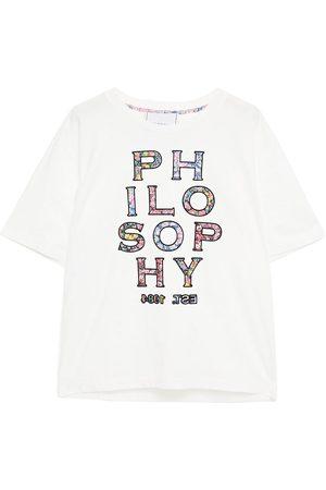 Serafini Woman Printed Cotton-jersey T-shirt Size L