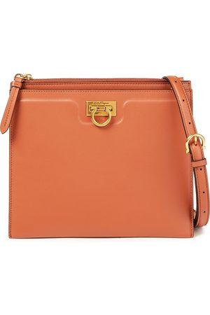SALVATORE FERRAGAMO Woman Trifolio Leather Shoulder Bag Tan Size