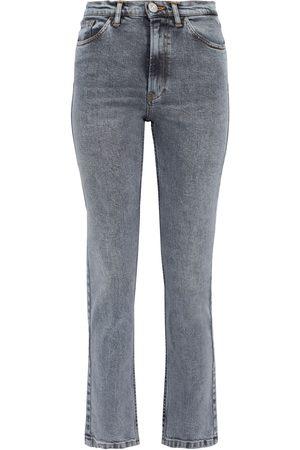 3x1 Woman Kirk Acid-wash Mid-rise Straight-leg Jeans Size 25